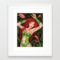 poison ivy Framed Art Prints featuring Poison Ivy by sika-chan