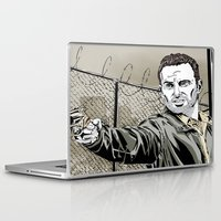 rick grimes Laptop & iPad Skins featuring Walking Dead - Rick Grimes  by Averagejoeart