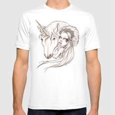 Her first Unicorn Mens Fitted Tee MEDIUM White