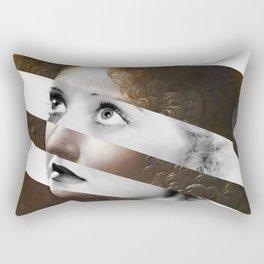 Leonardo da Vinci's Angel from Virgin of the Rocks & Bette Davis Rectangular Pillow