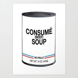 27 Consumé Art Print