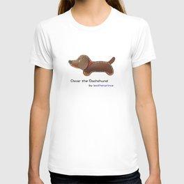 Oscar the Dachshund by leatherprince T-shirt