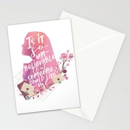 lara jean  Stationery Cards