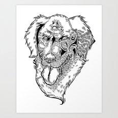 Evil Dog Art Print