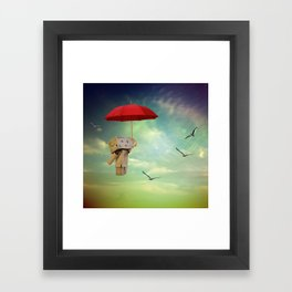 Danbo on tour Framed Art Print