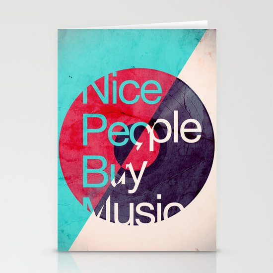 Nice People Buy Music Stationery Cards