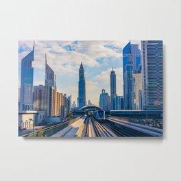 Dubai, the city of the future. Metal Print