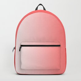 White and Red Gradient 022 Backpack