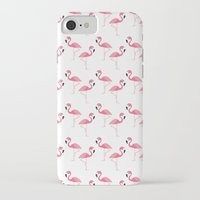 flamingo iPhone & iPod Cases featuring Flamingo by Vickn
