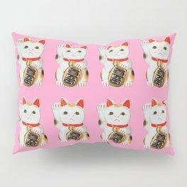 MANEKINEKO CAT PINK PATTERN Pillow Sham