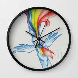 The Softest of Rainbooms Wall Clock