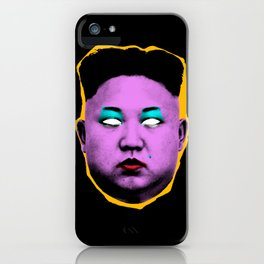 Divine Kim Jong Un from Outer Space iPhone Case