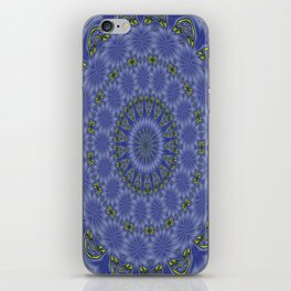 Blue and Yellow Abstract Kaleidoscope iPhone Skin