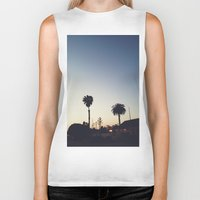 san diego Biker Tanks featuring Old Town, San Diego by George Elder