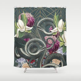 Tangled snakes Shower Curtain