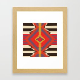 American Native Pattern No. 87 Framed Art Print