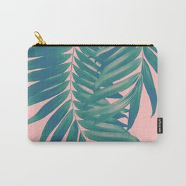 Palm Leaves Blush Summer Vibes #4 #tropical #decor #art #society6 Carry-All Pouch