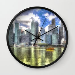 Singapore Marina Bay Sands Art Wall Clock