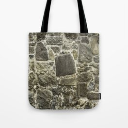 Weathered Stone Wall rustic decor Tote Bag