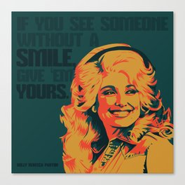 Dolly Parton Canvas Print