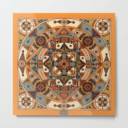Mandala no.6: Mexico City Metal Print