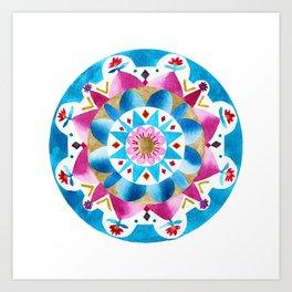 Painted Hills Mandala Art Print