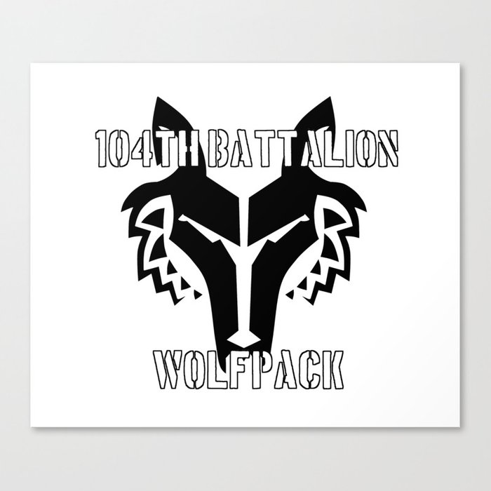 104th Battalion Wolfpack Canvas Print by theartarmature