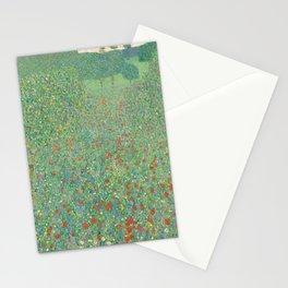 Gustav Klimt - Blühender Mohn Stationery Cards