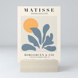 Exhibition poster Henri Matisse 1953. Mini Art Print