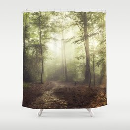 german rain forest Shower Curtain