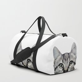 Cat, American Short hair, illustration original painting print Duffle Bag