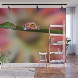 Water Droplet Flower Wall Mural