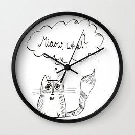 miaow what Wall Clock