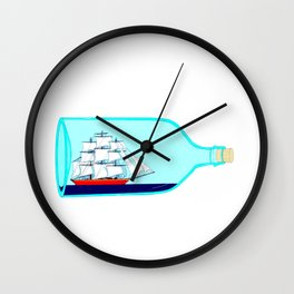 A Ship in a Bottle Wall Clock