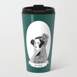 Ada Lovelace Illustrated Portrait Travel Mug