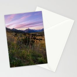 Mount Cook Nightfall Stationery Cards