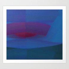 Blue Minimum Art Print