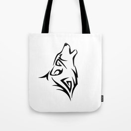 Tribal Wolf Howl Tote Bag