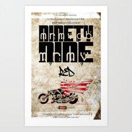 NINETY NINE RED-poster Art Print