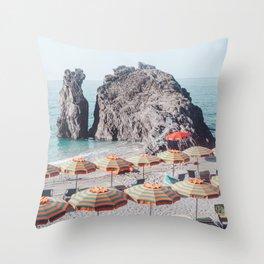 Cinque Terre Beach 1 Throw Pillow