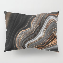 Glowing Marble Waves  Pillow Sham