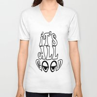 hippy V-neck T-shirts featuring Hippy by Top Head Culture