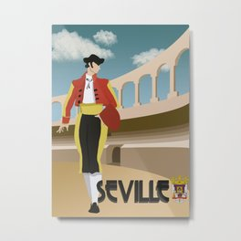 Matador in Seville Metal Print
