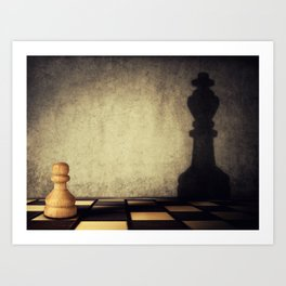 pawn aspiration Art Print