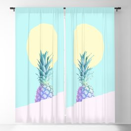 Tropical Pineapple Sunkissed #decor #popart #minimalist Blackout Curtain