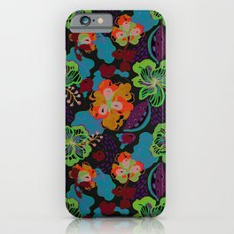 Hand Drawn Floral 0053 iPhone Case