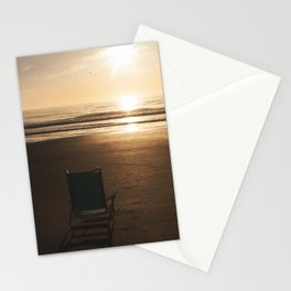 Beach Chair at Sunrise Stationery Cards