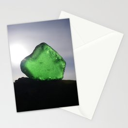 EMERALD GREEN SEA GLASS SUNSET Stationery Cards