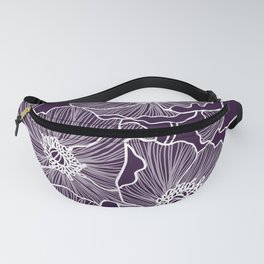Aubergine Poppies Fanny Pack