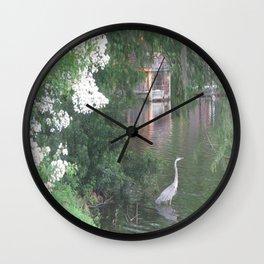Heron's Lake Wall Clock